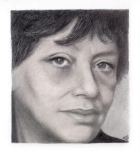 Ana Godel, retrato Olga Orozco.