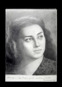 Ana Godel, retrato de Olga Orozco,15x21 36