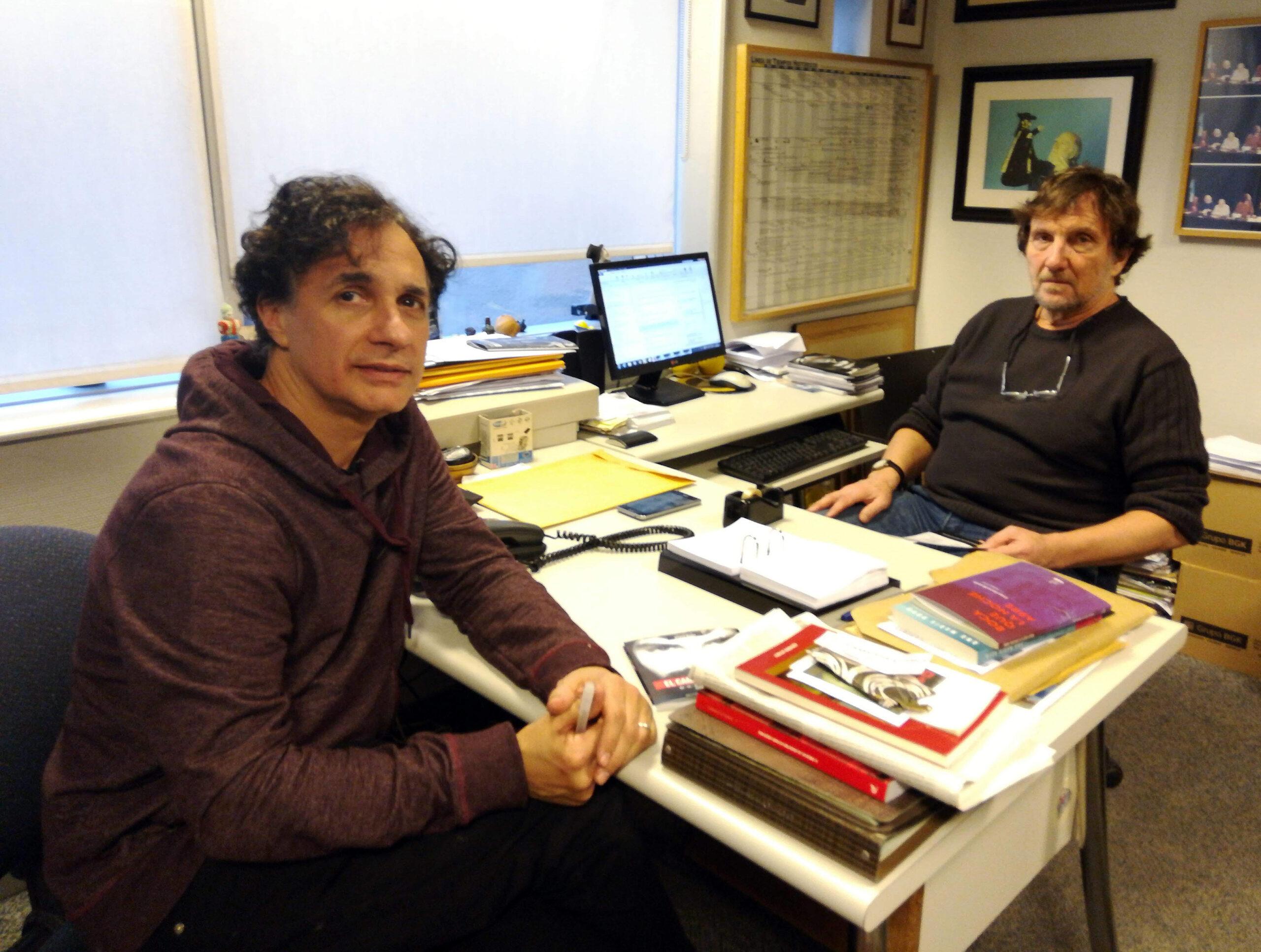 Pablo Silva y Juano Villafañe en el Centro Cultural de la Cooperación.